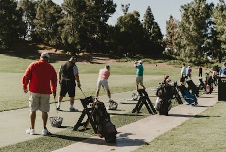 Golfers participating in Goodwill Orange County's Golf Classic.