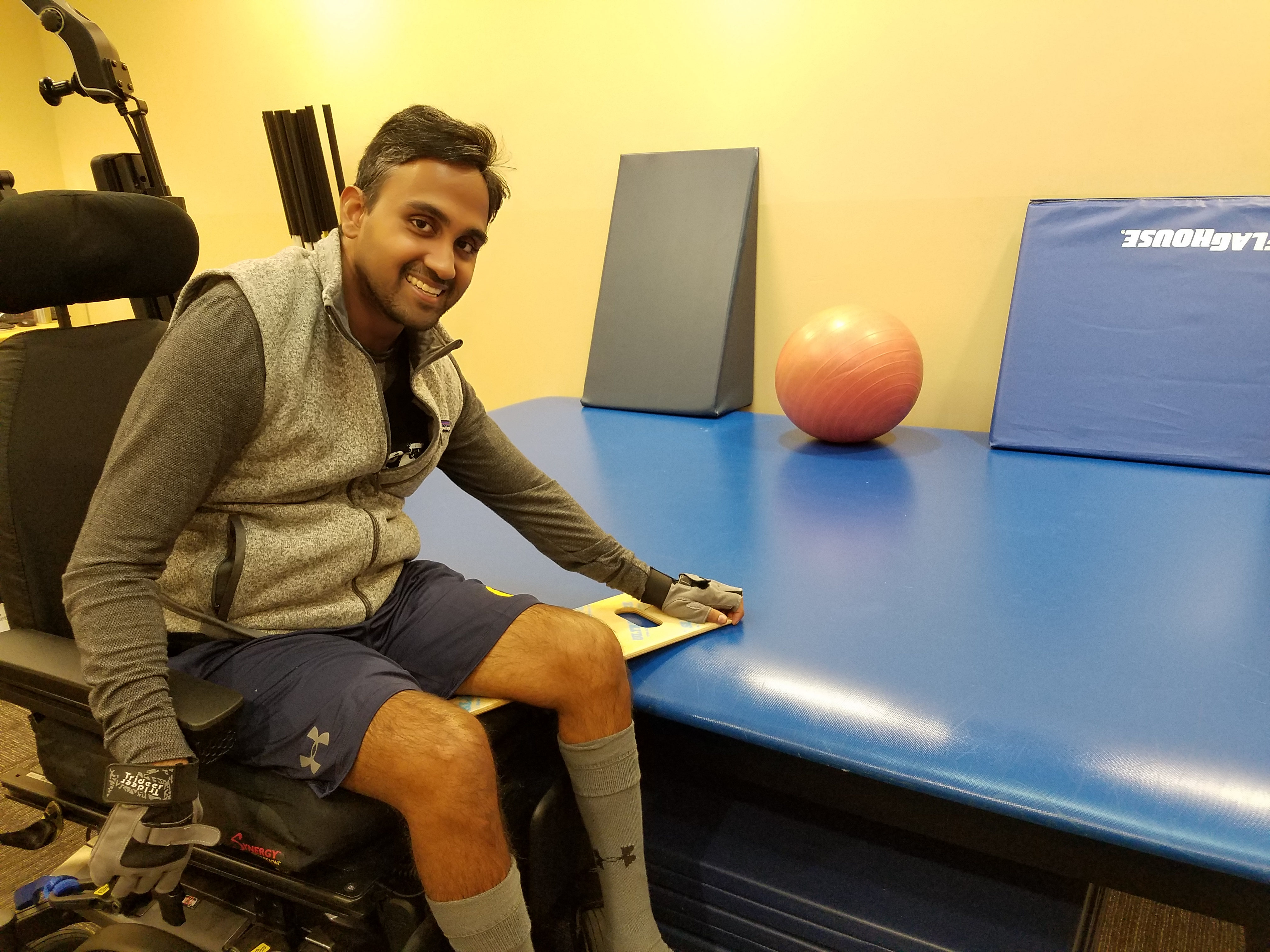 Hinesh in Goodwill of Orange County's Fitness & Technology Center