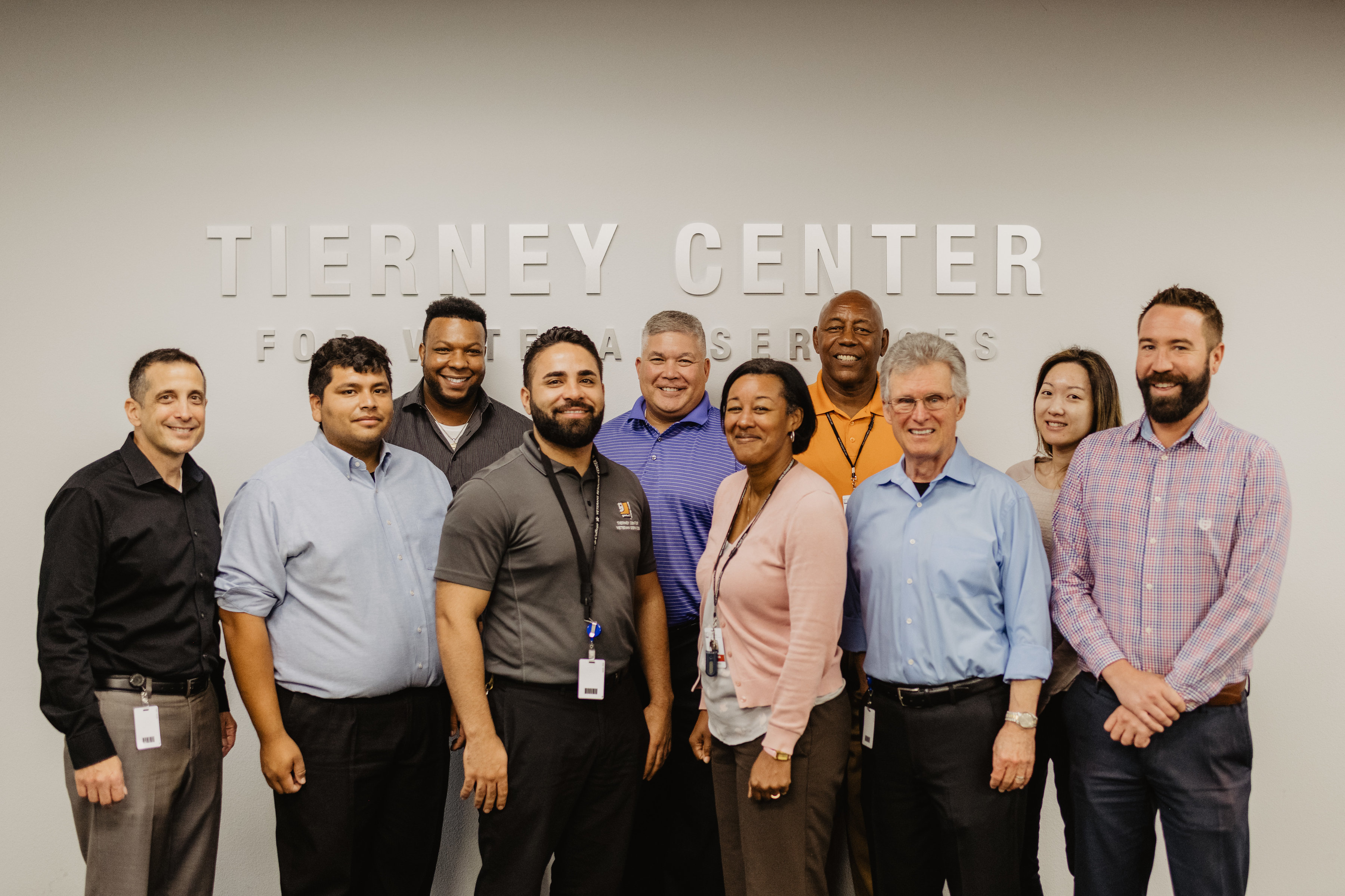 Group of Goodwill of Orange County employee's smiling