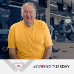 Bill Calliham sitting in a gym. #givingtuesday
