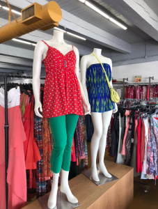 Two mannequins displayed inside Goodwill Store & Donation Center in Lake Forest
