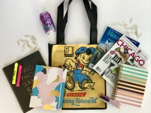 Goodwill of Orange County reusable bag and books