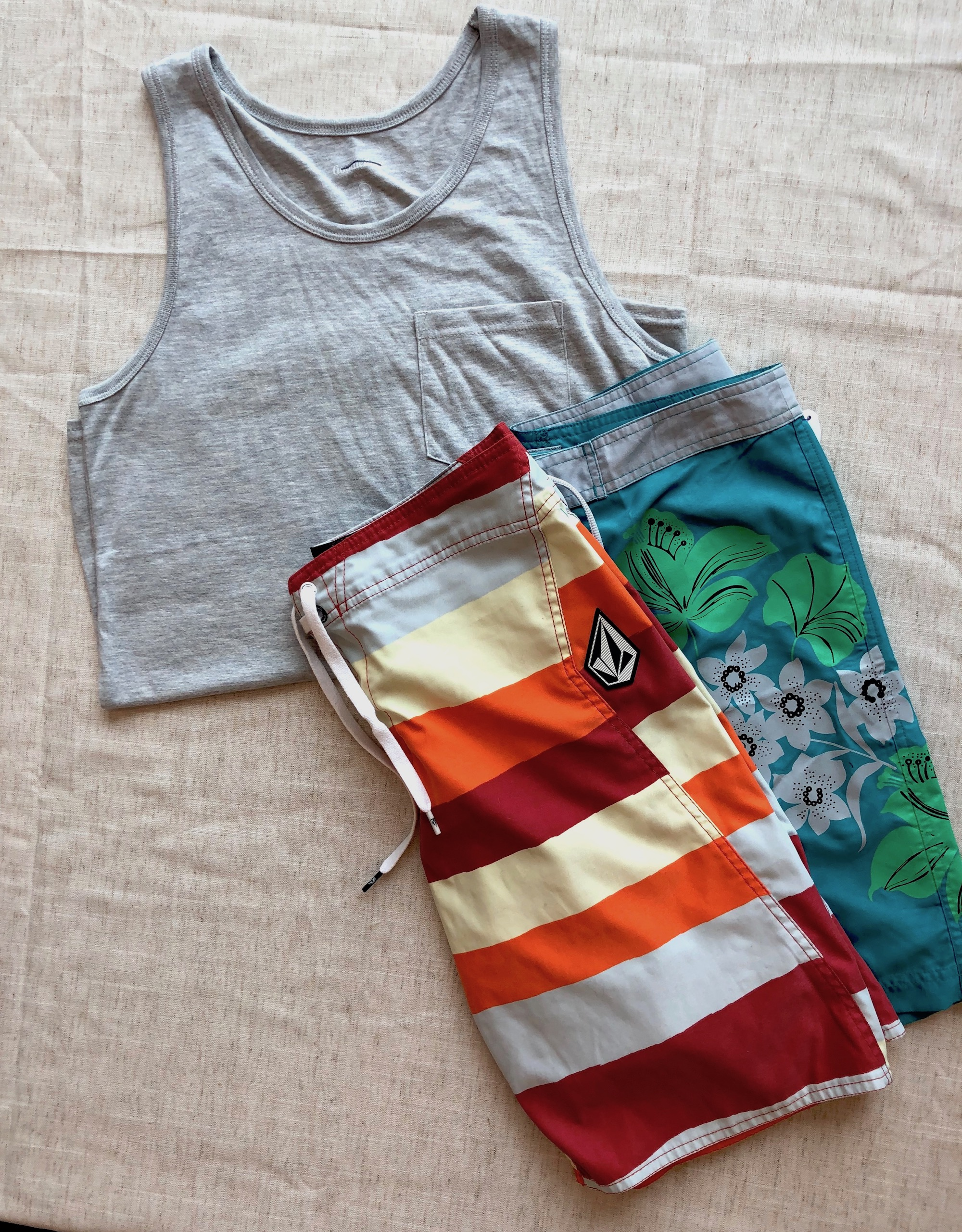 Summer clothes, sleeveless top with trousers
