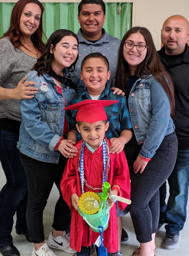 Luis Banuelos with his family
