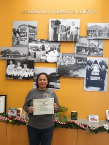 Mirtha is a recent graduate from Goodwill of Orange County's General Office Clerk program