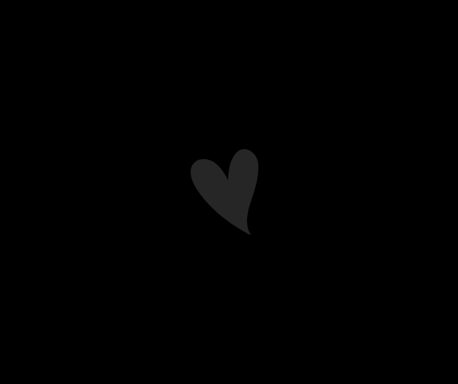 Black background with a grey heart