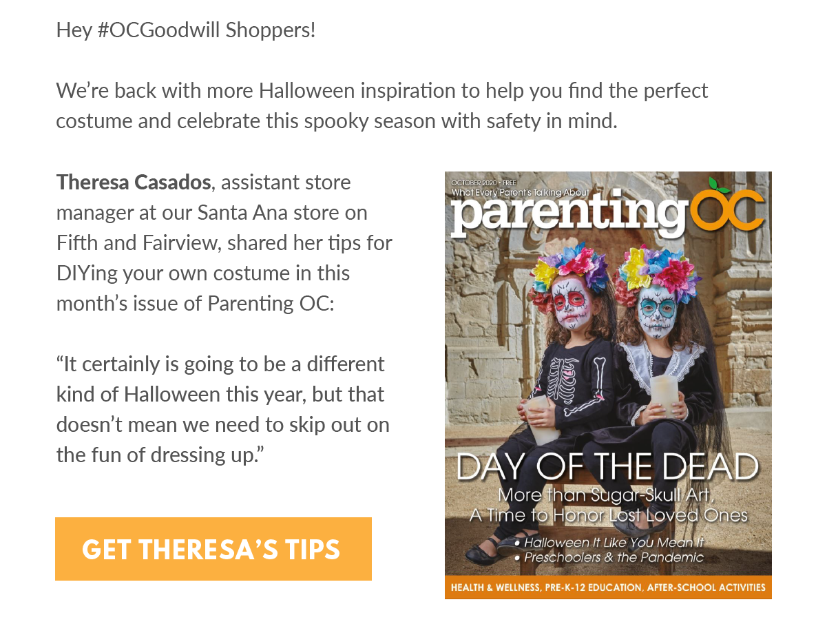 Parenting OC this month's issue book cover