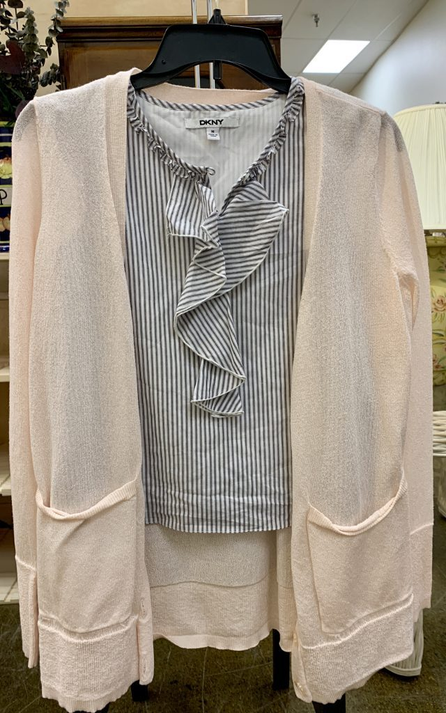 Light jacket with striped spring blouses